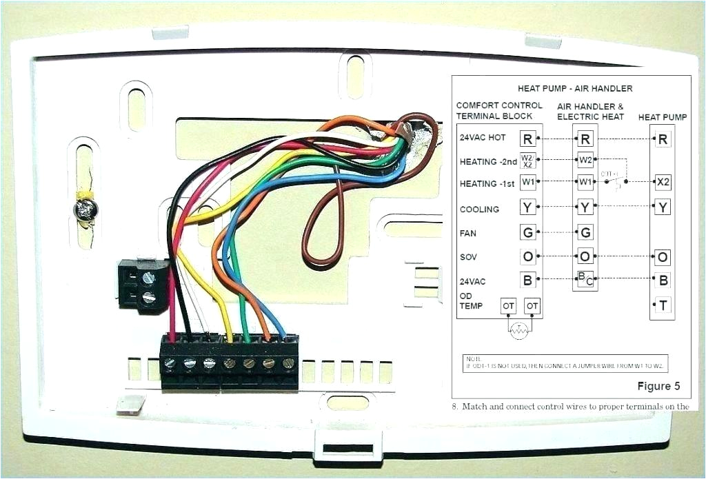 Honeywell thermostat Wiring Diagram 5 Wire with 8 Wires thermostat Diagrams Wiring Diagram Files