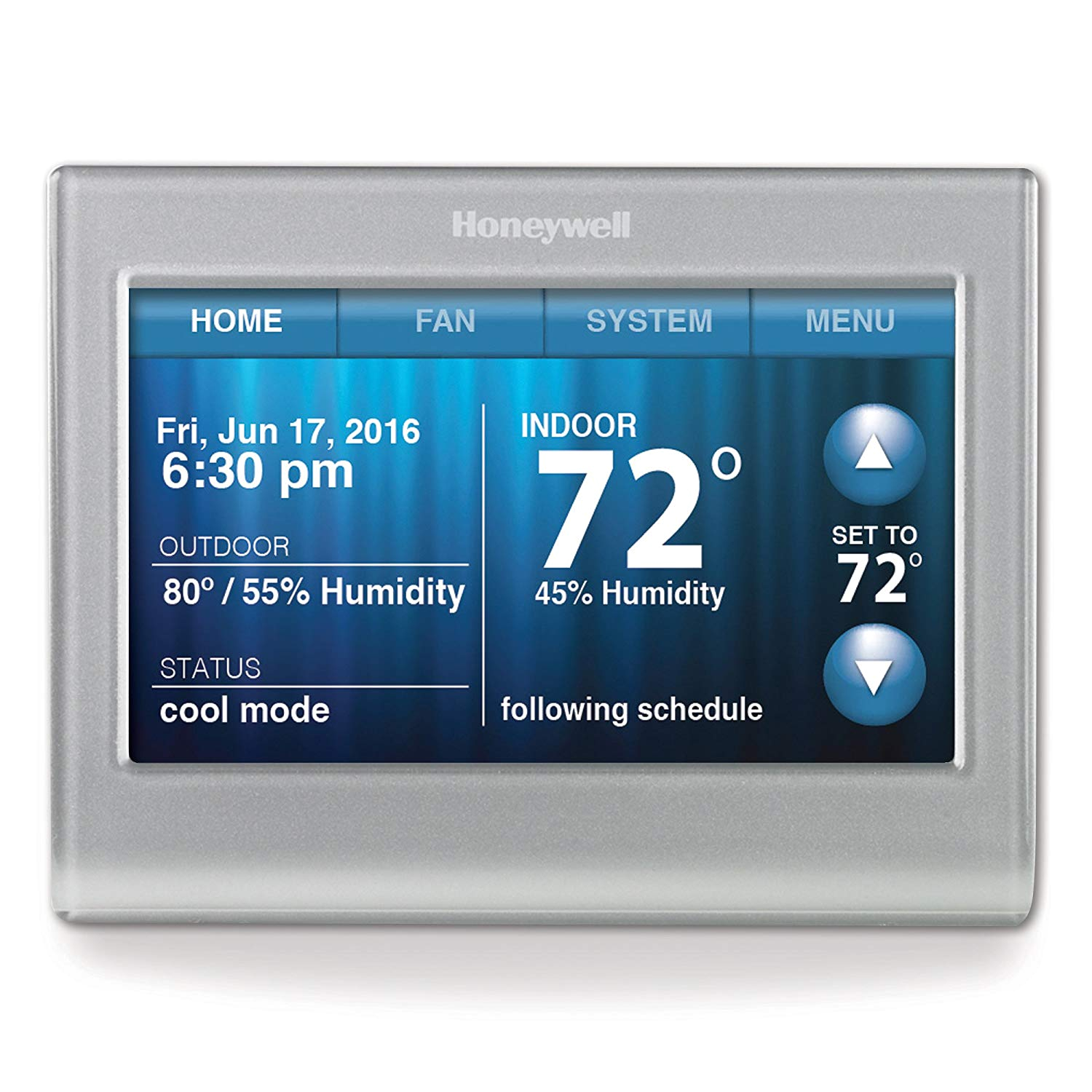 honeywell rth9580wf smart wi fi 7 day programmable color touch thermostat works with alexa programmable household thermostats amazon com