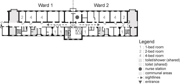 psychiatric ward design can reduce aggressive behavior sciencedirect hospital floor plan besides work diagram ex les as well medical office