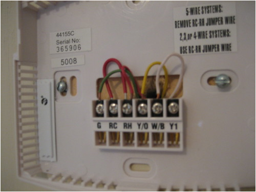 problem goodman gmnt to hunter 44155c thermostat hvac diy mix i just purchased a hunter programmable hunter 44155c wiring diagram