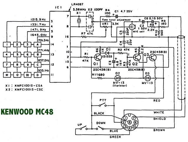 kenwood mc 48b microphone