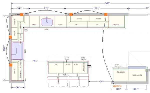 wiring kitchen lights wiring diagram show electrical wiring home under cabinet lighting