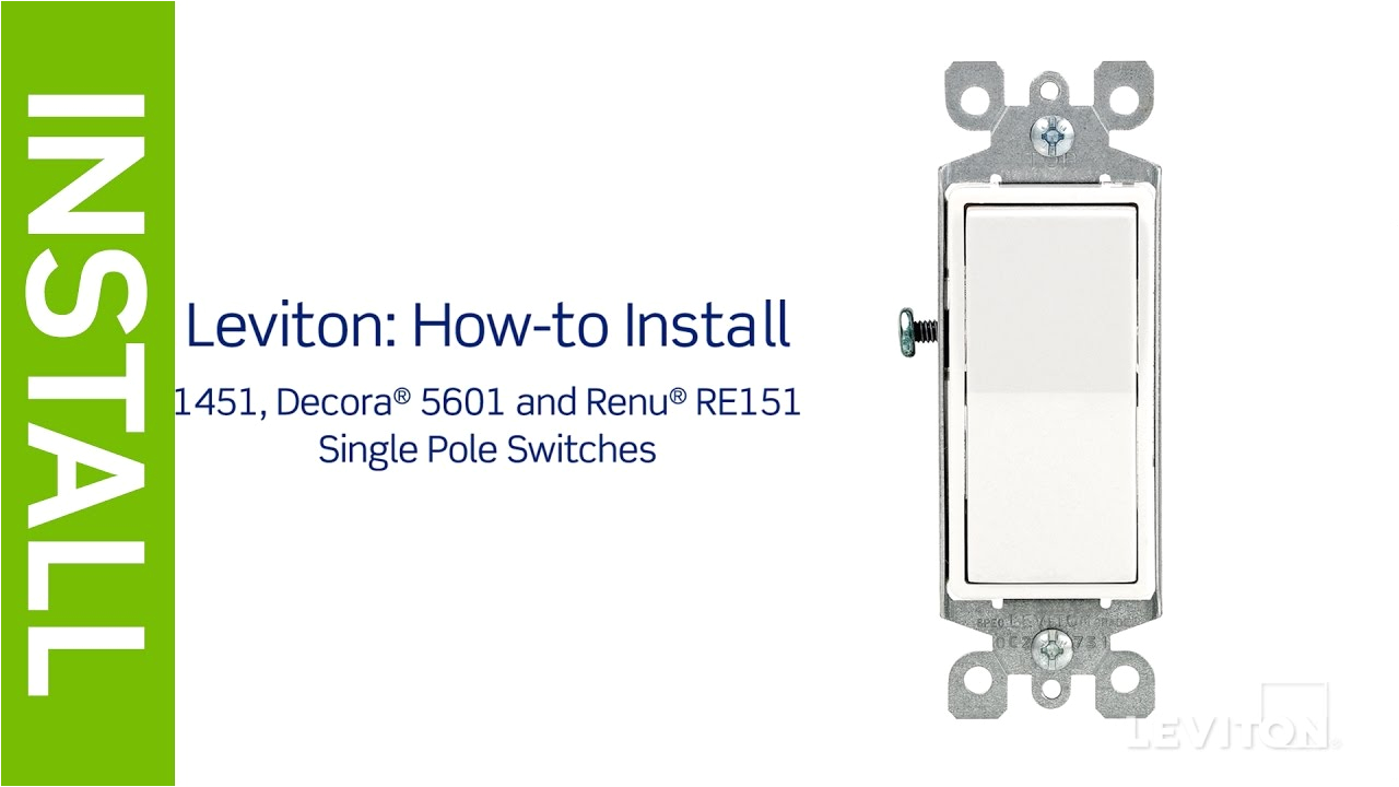 leviton presents how to install a single pole switch youtube hubbell single pole switch wiring diagram
