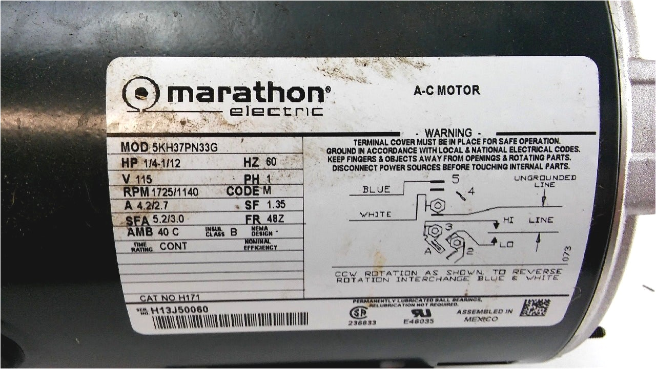 wiring diagram hi i just bought a marathon electric ac motor hp 14 v wiring a 3 phase motor diagram wiring ac motor diagram