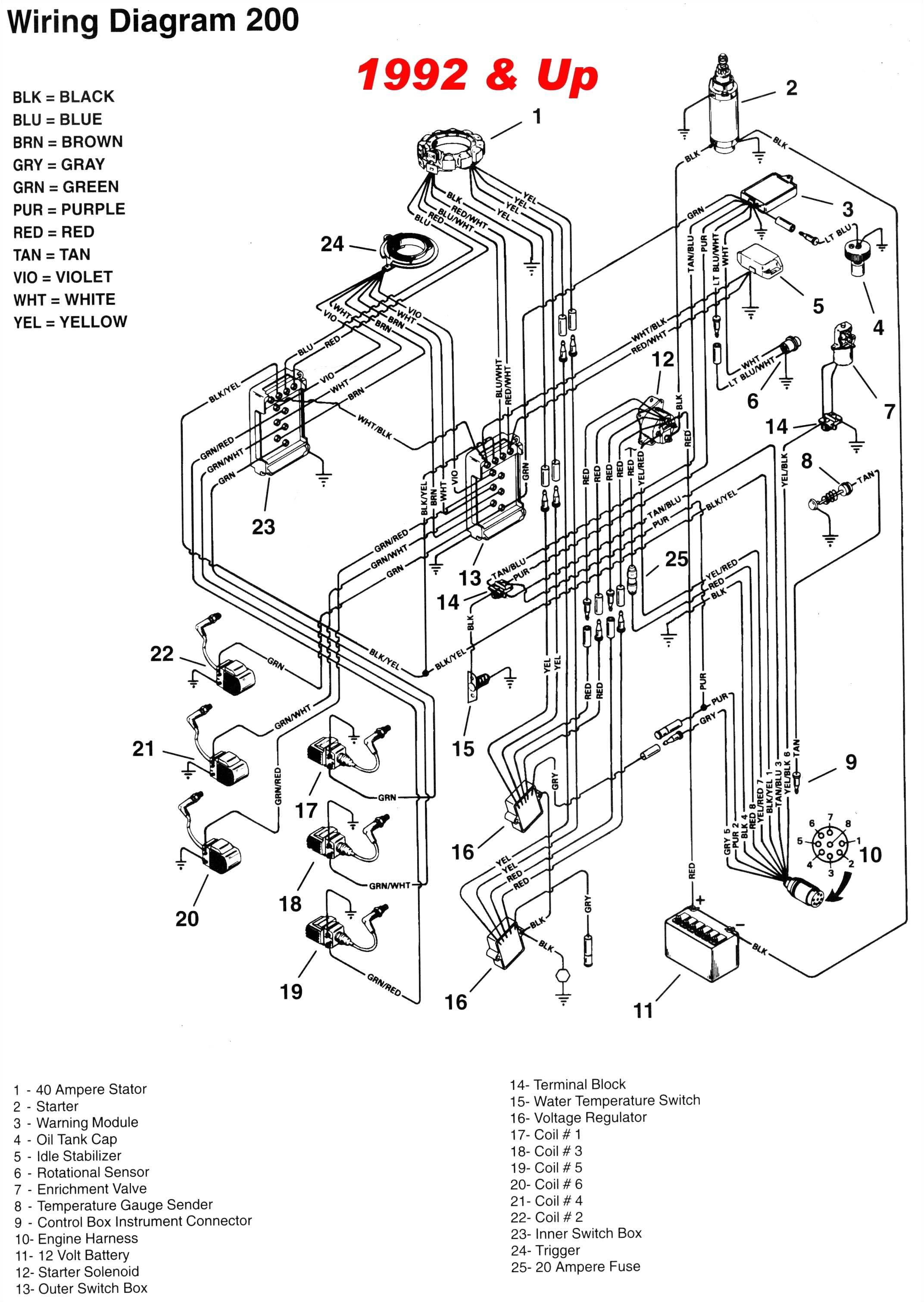 Mercruiser Wiring Diagram Mercury Outboard Remote Control Wiring Electrical Schematic Wiring
