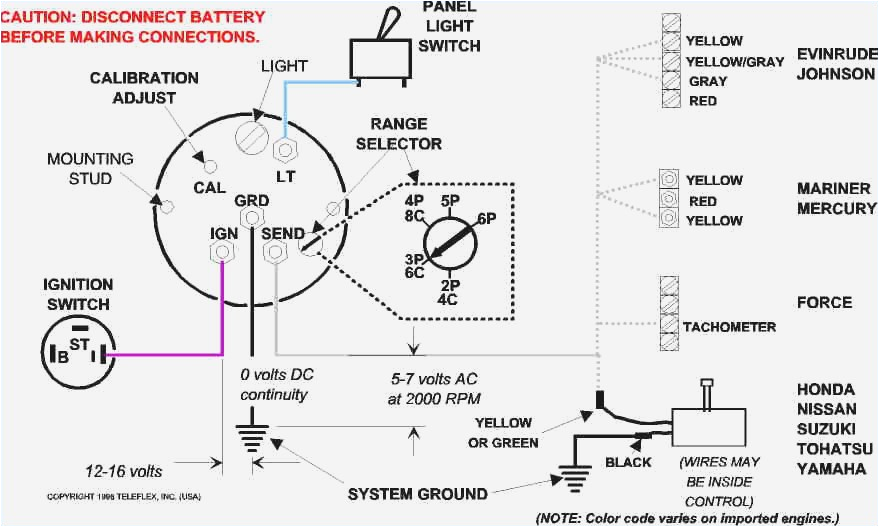 Mercury Outboard Ignition Switch Wiring Diagram Marine Tach Wiring Electrical Schematic Wiring Diagram
