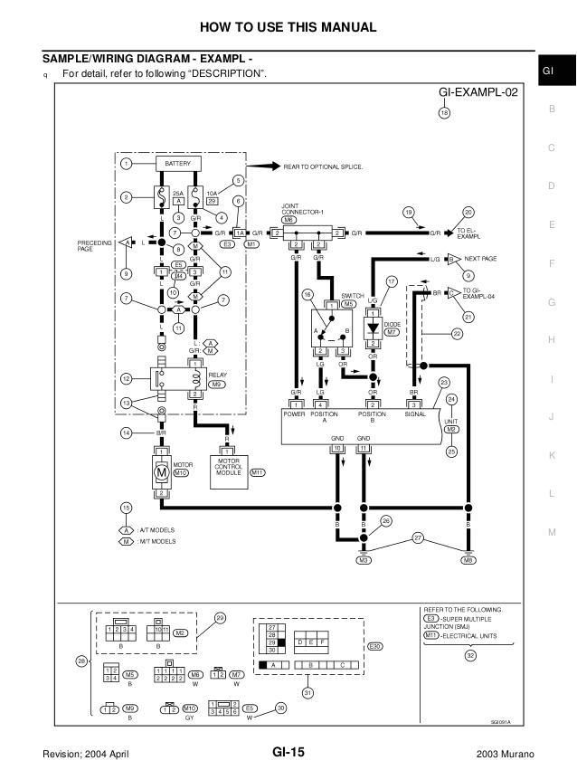 Nissan Murano Wiring Diagram 2003 Nissan Murano Service Repair Manual