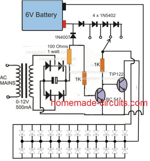 Npn Wiring Diagram Npn Emergency Lamp Eletra Nica In 2019 Circuit Projects