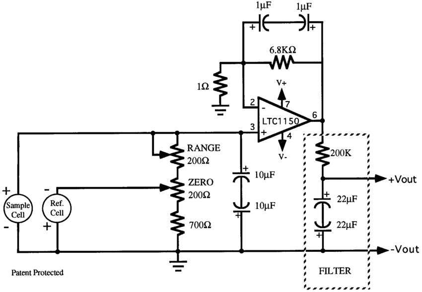 a schematic diagram of the differential oxygen sensor od and its oxygen sensor circuit high oxygen sensor schematic