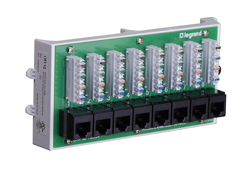 On-q Rj45 Wiring Diagram Amazon Com Legrand On Q Ac1058 8 Port Cat 5e Network Interface