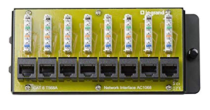 legrand on q ac1068 8 port cat 6 network interface module 1 5 quot