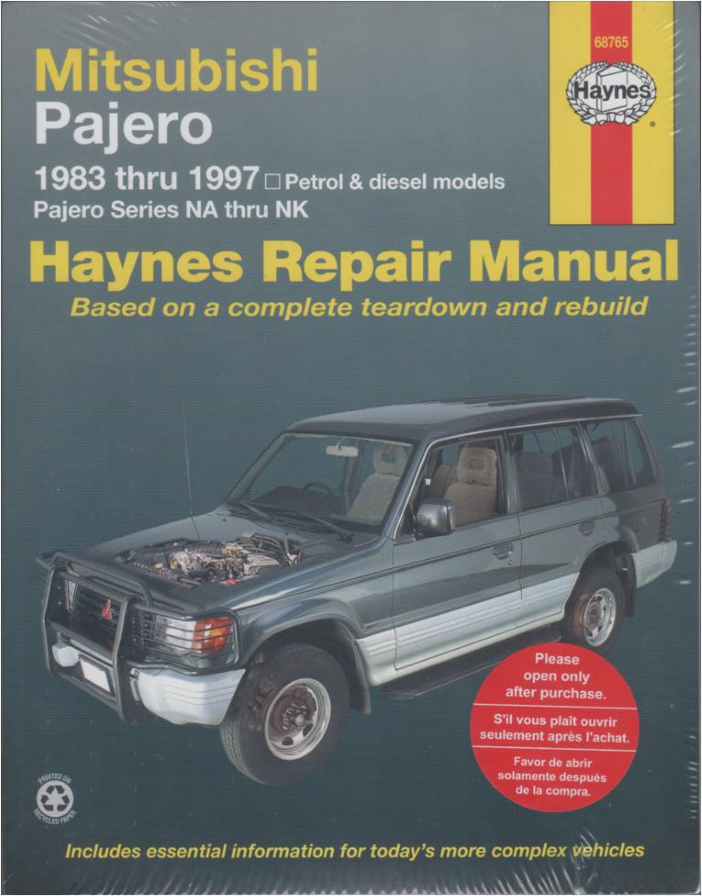 mitsubishi pajero na nk repair manual 1983 1997