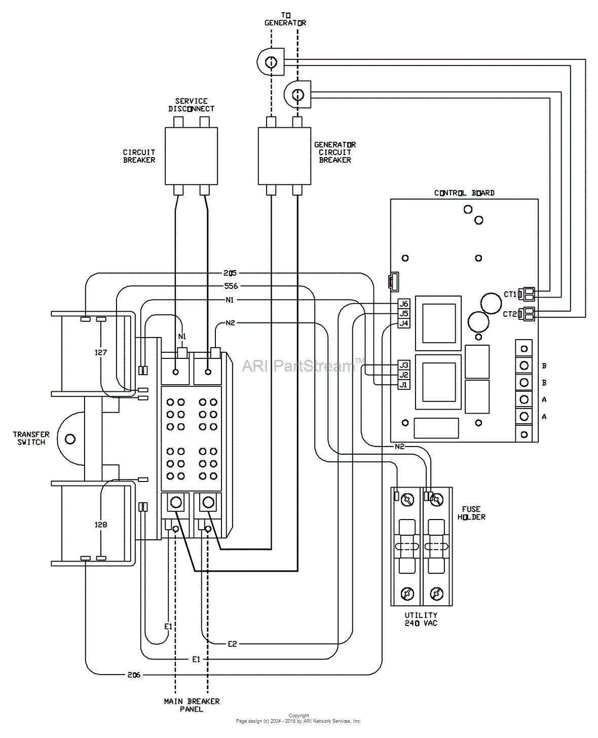 briggs and stratton power products 071046 00 200 amp automatic 200 automatic transfer switch wiring diagram source generator manual