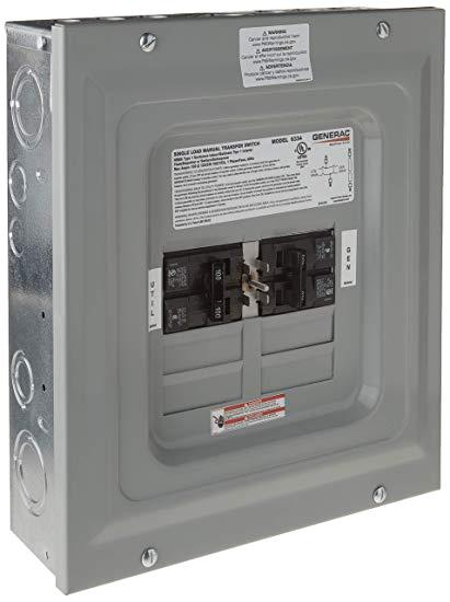 generac 6333 60 amp single load double pole manual transfer switch for portable generators amazon ca patio lawn garden