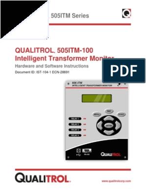 Qualitrol Liquid Level Gauge Wiring Diagram Qualitrol ist 104 1 Itm505 Hw Sw Instructions Rev 28691 Relay Switch
