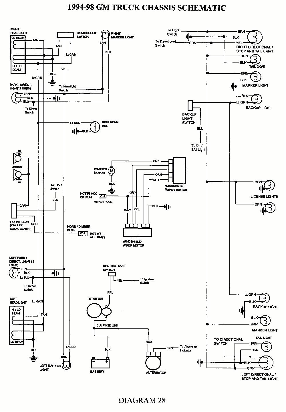 1996 blazer fuse box lights wiring diagram 1996 chevy blazer wiring diagram tail lights