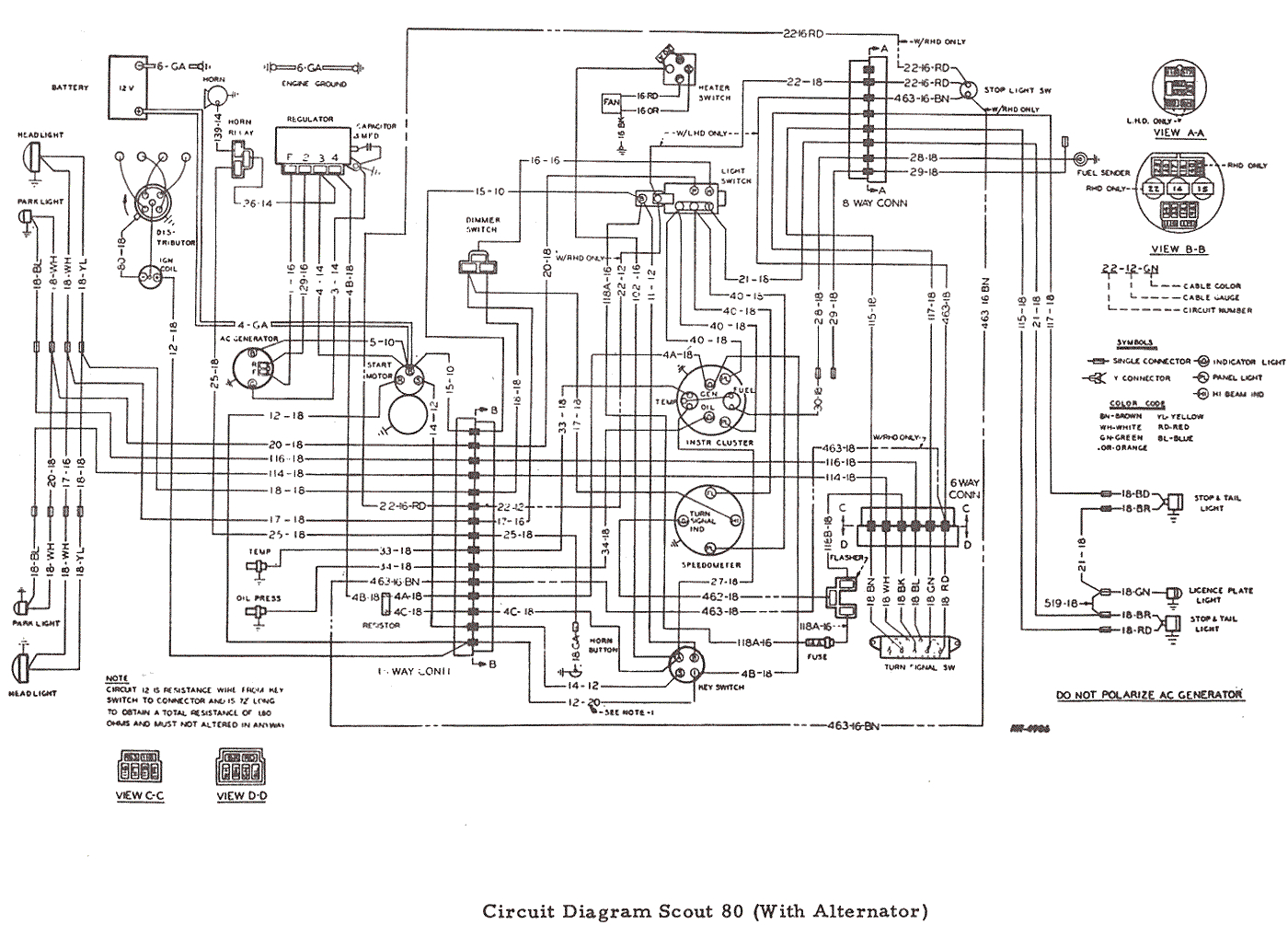 1965 scout engine wiring diagram wiring diagram pass front light wiring harness diagram19kb