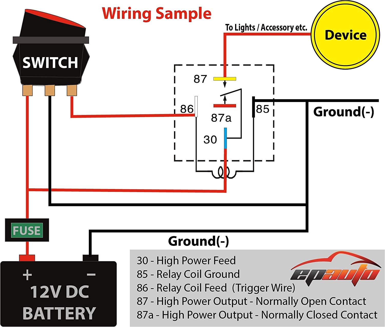 amazon com 4 pack epauto 30 40 amp relay harness spdt 12v bosch timer relay 12vdc wiring schematic 12vdc relay wiring