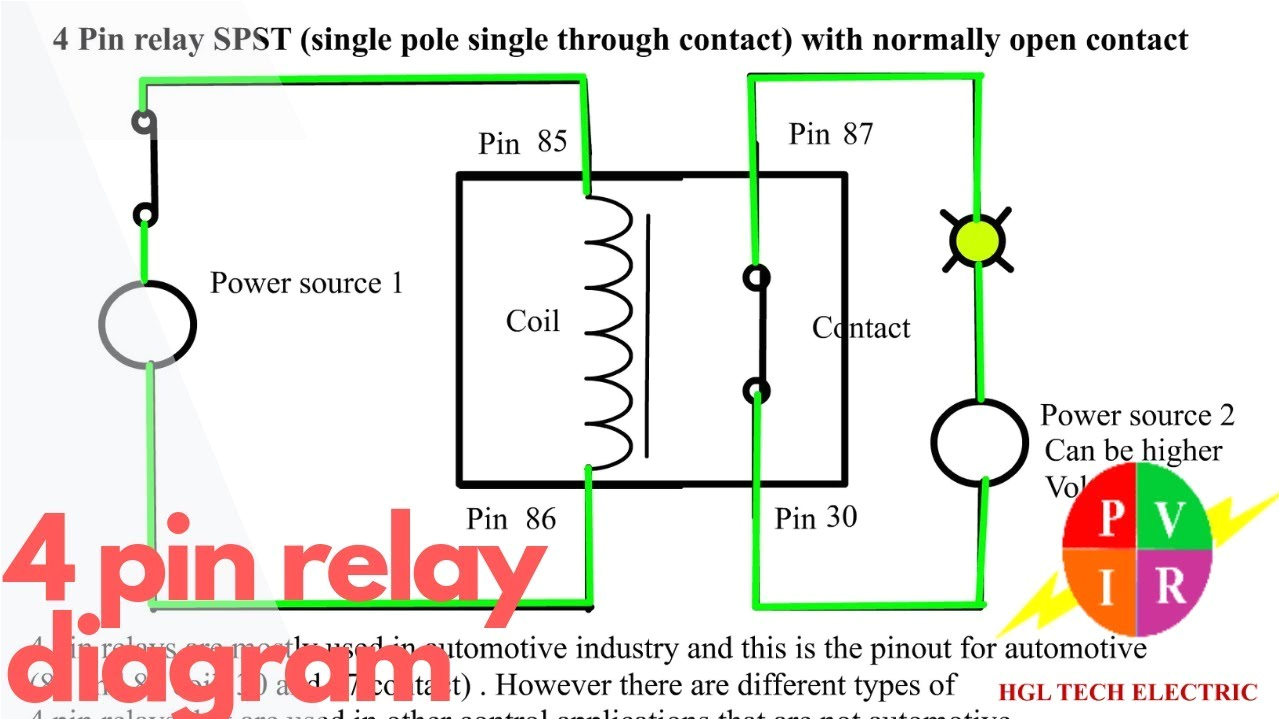 4 wire relay diagram wiring diagram operations 4 pin relay wiring diagram 4 wire relay diagram