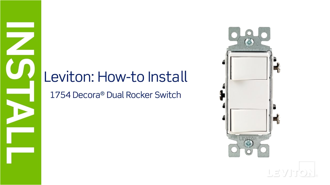 leviton presents how to install a decora combination device with two single pole switches leviton 5641 double switch wiring diagram