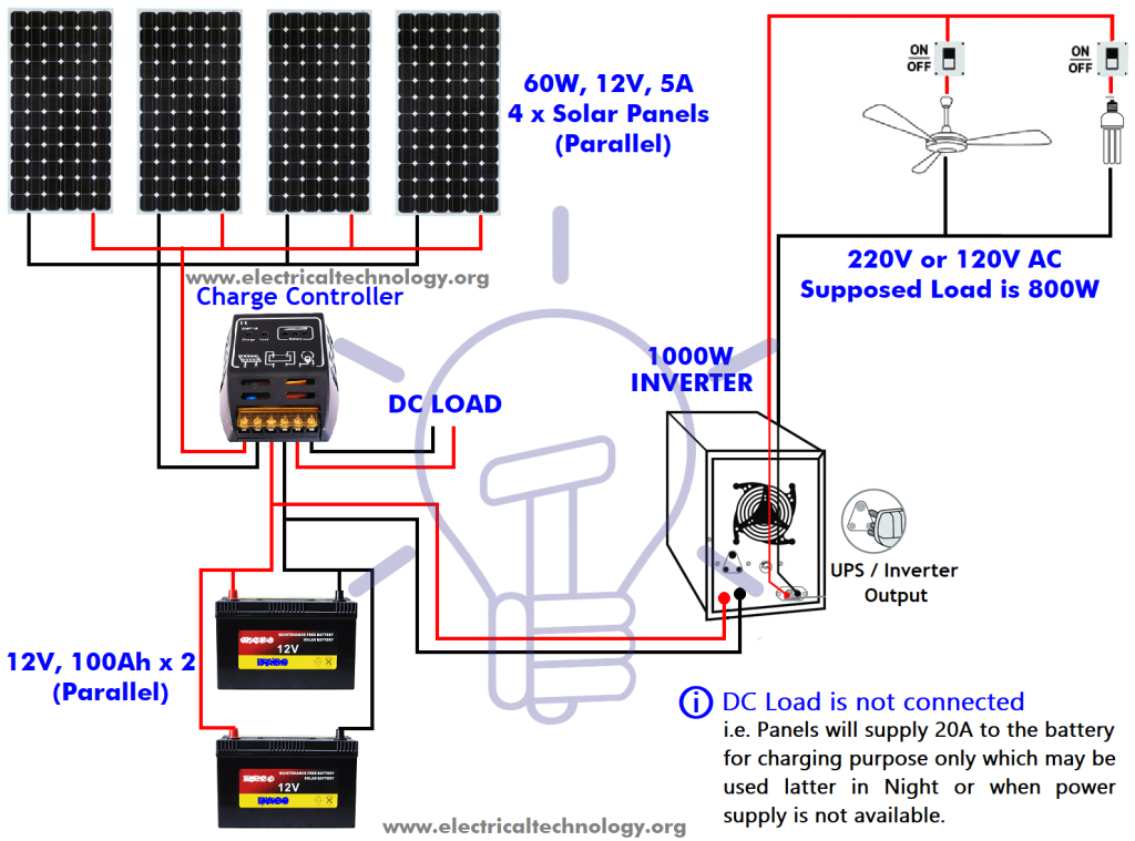how to install a solar panel design calculation step by step how to wire solar panel to 12v battery and 12vdc load