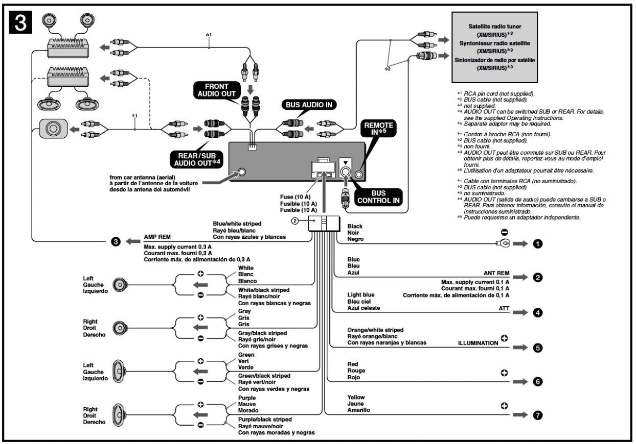 sony marine stereo wiring diagram