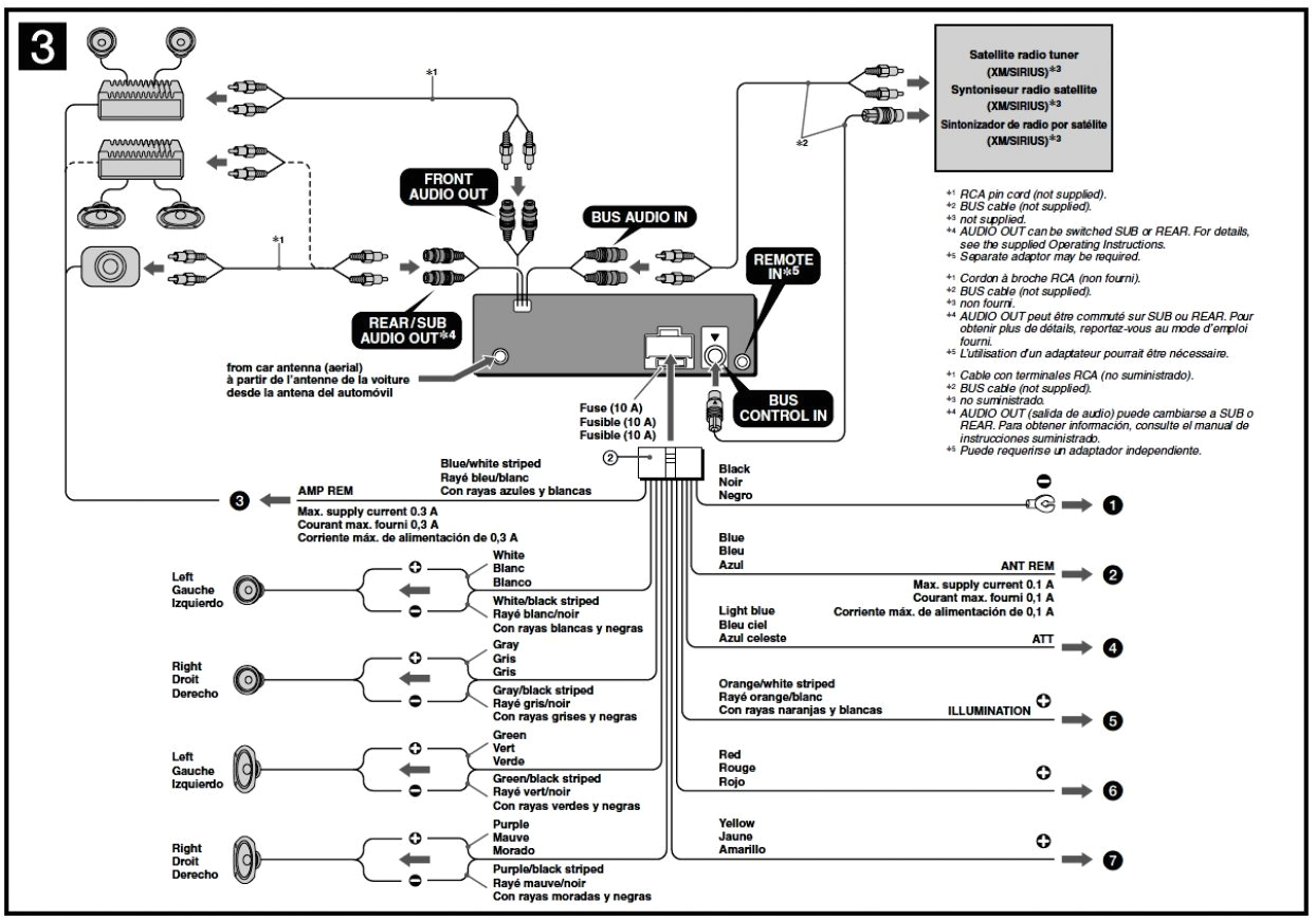 sony wiring diagram car stereo