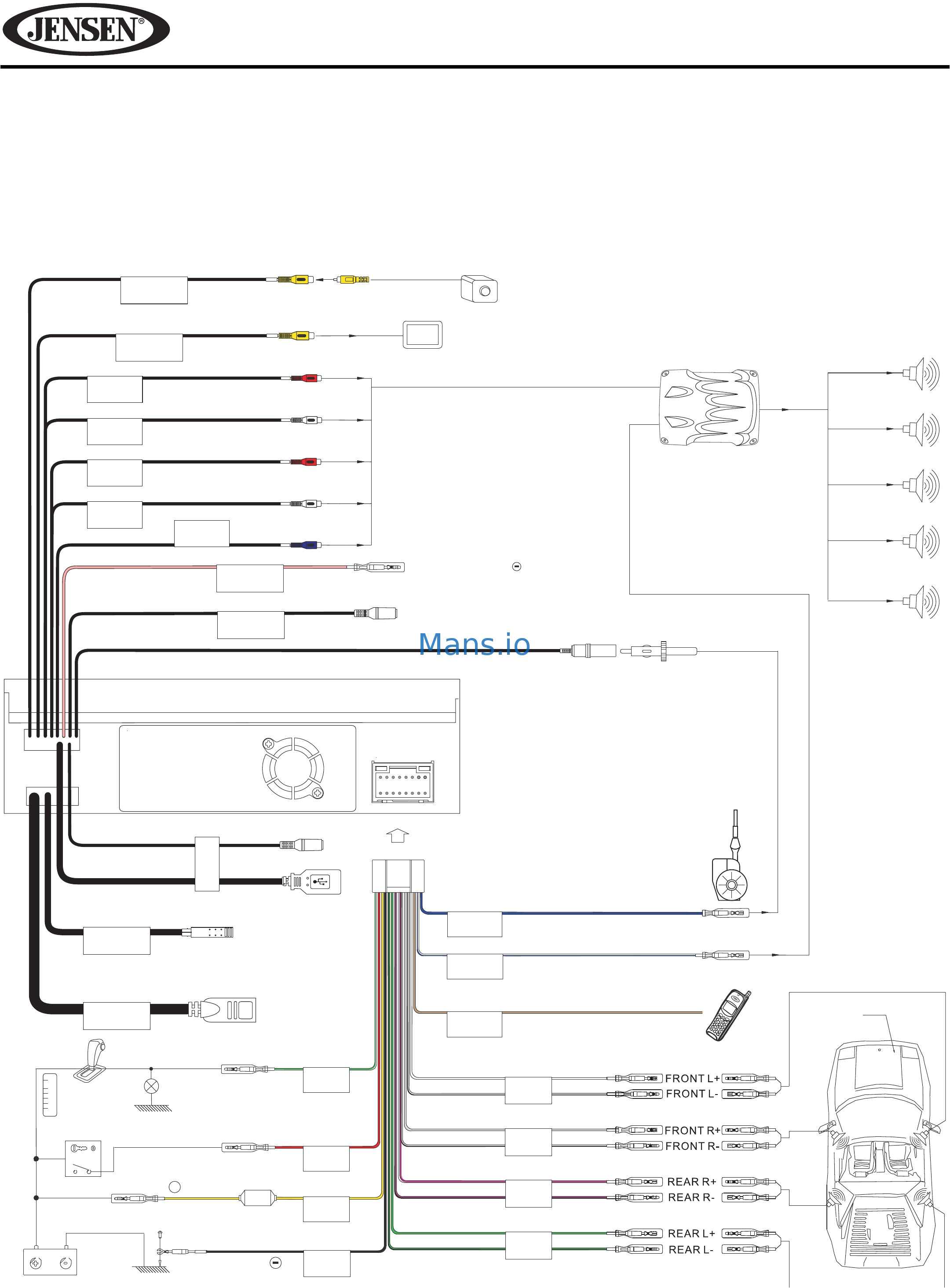jensen vm9510 wiring harness diagram wiring diagram files jensen radio model vm9510 wiring diagram