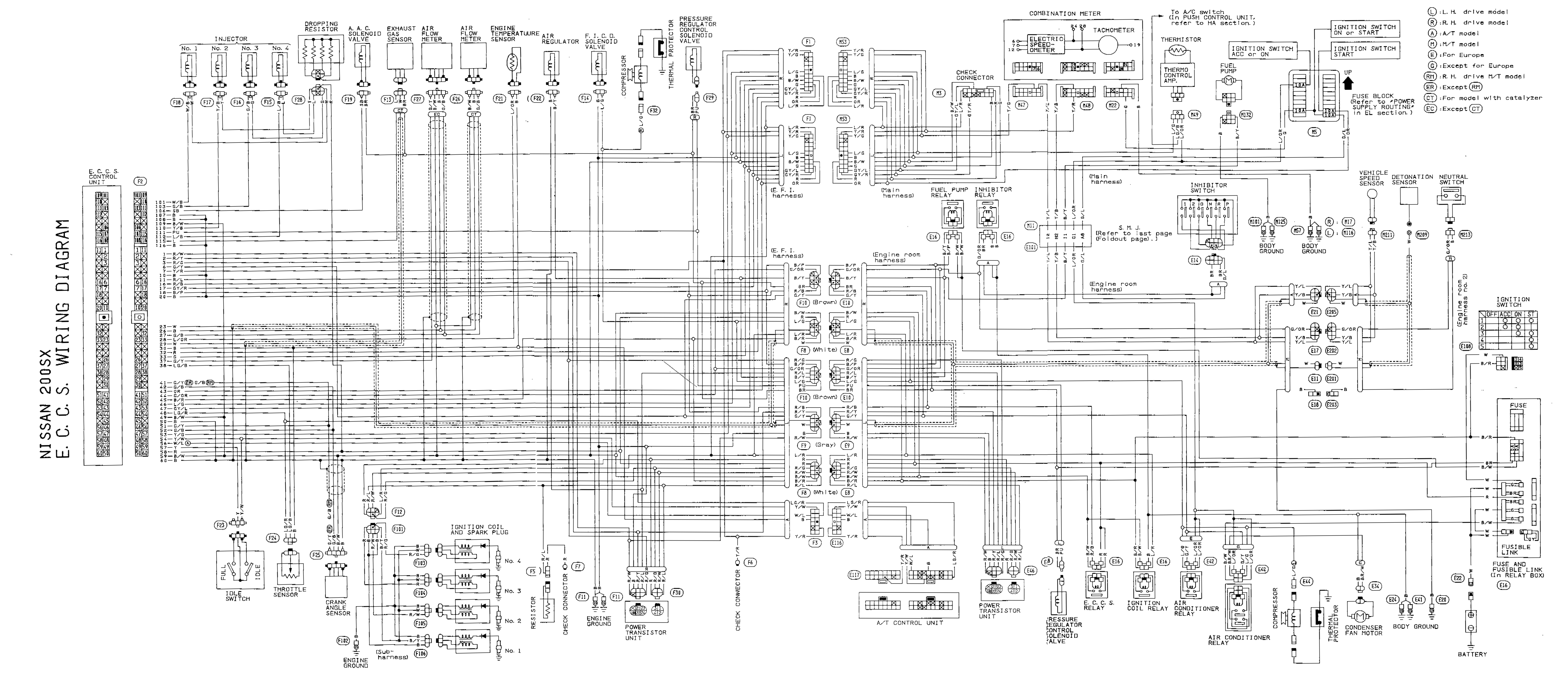 s13 wiring harness diagram wiring diagrams for sr20det wiring diagram
