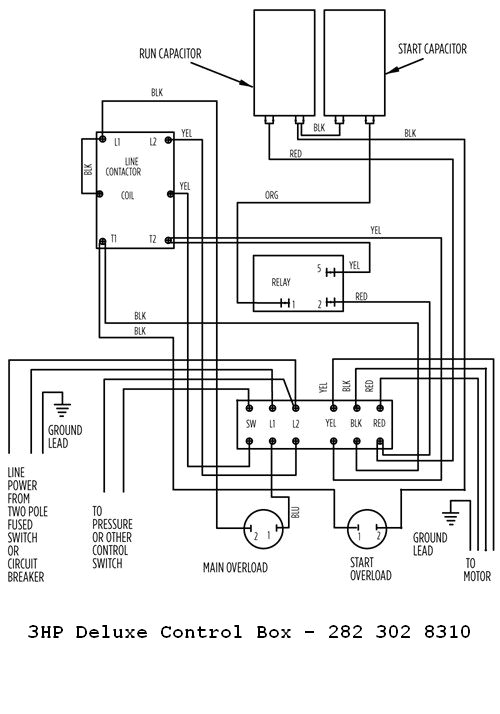 franklin electric 3hp 230v deluxe control box franklin electric control box wiring 3hp deluxe 282 302