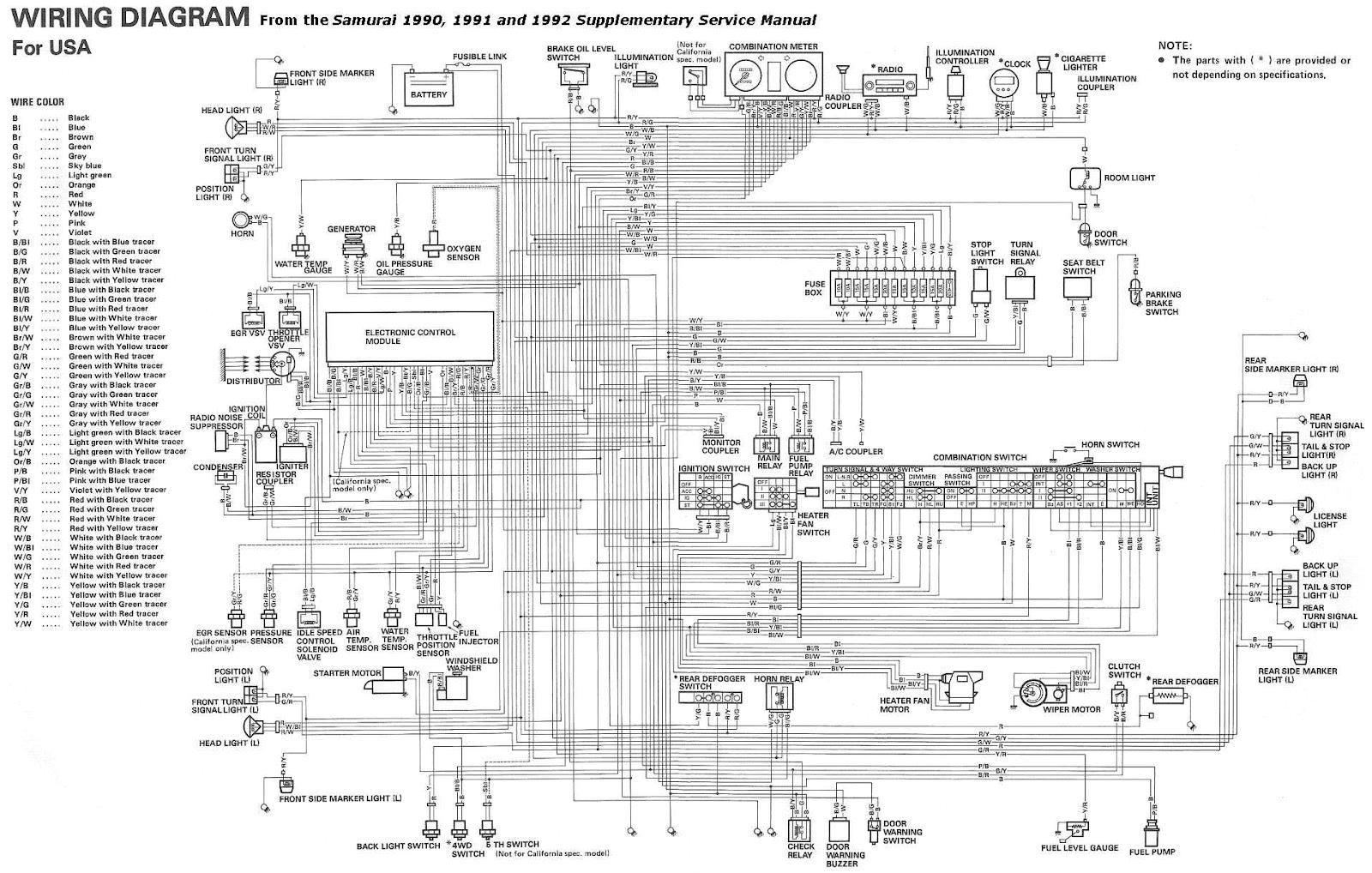 suzuki x 90 wiring diagram blog wiring diagram 1993 suzuki sidekick 1600 and sport 1800 x90