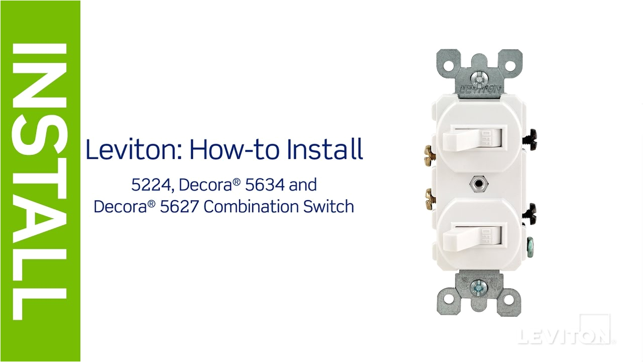 leviton presents how to install a combination device with two leviton double rocker switch wiring diagram leviton double switch wiring diagram