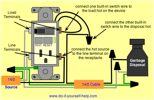 wiring ground fault circuit interrupter switch enter image description here