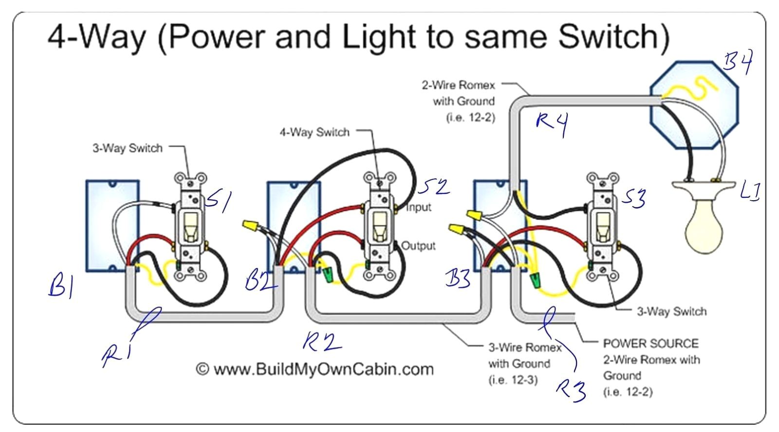 way switch wiring diagram power to then double light switch diagram power through light to switchpowerintolightwiringjpg
