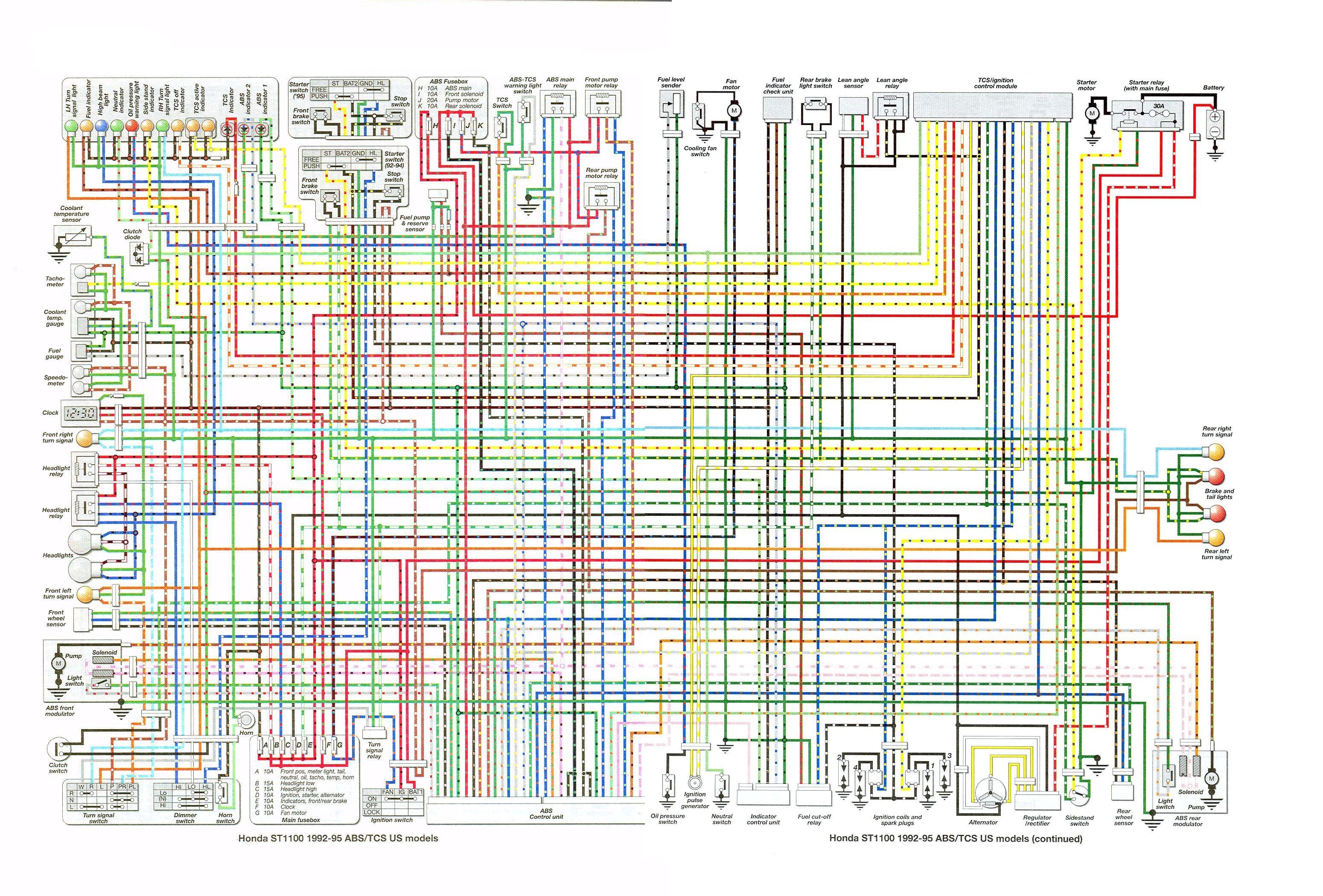 wiring diagrams colored st1100 wiring diagram for starter solenoid wiring diagram for st