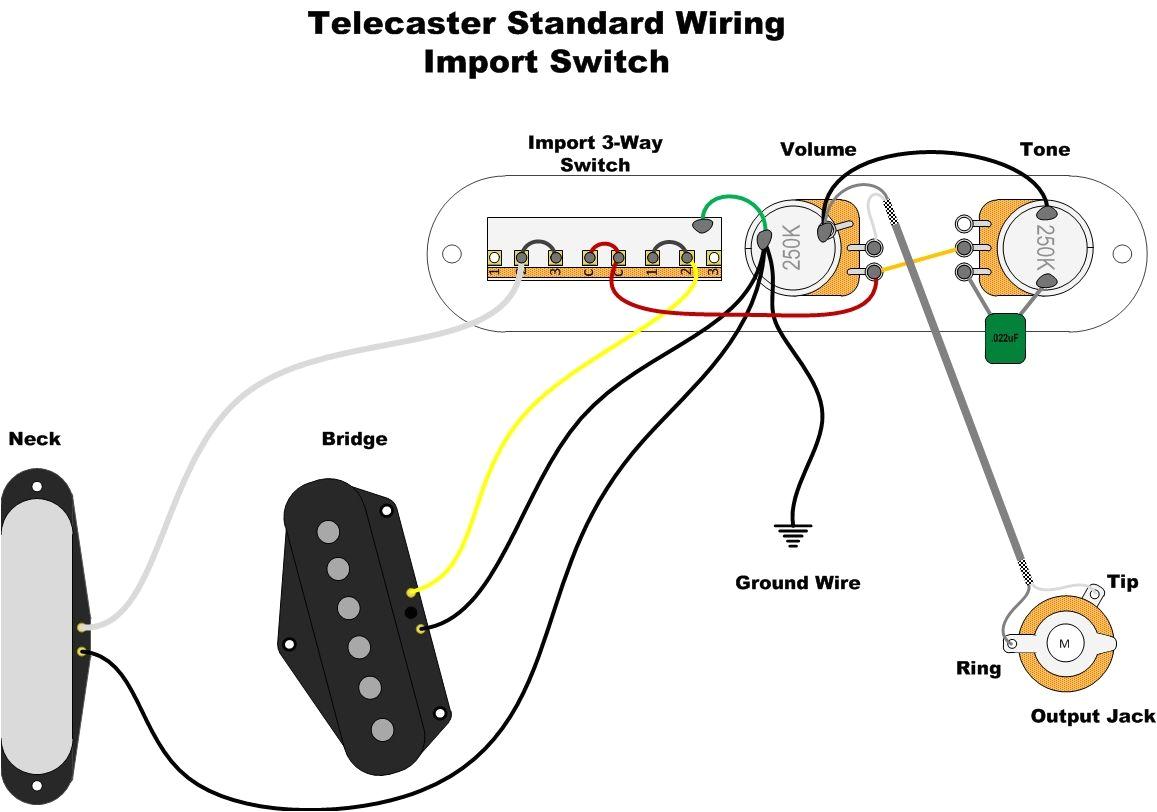 standard telecaster wiring diagram a wealth of guitar wiring diagrams 5p jpg