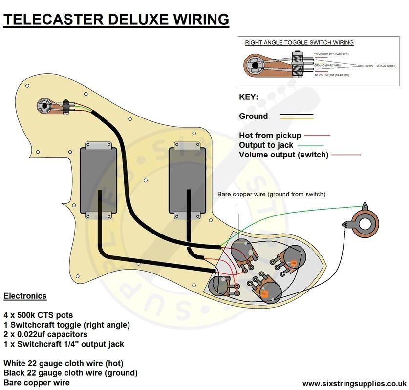Telecaster Wiring Diagrams Telecaster 72 Deluxe Wiring Diagram Music In 2019 Telecaster
