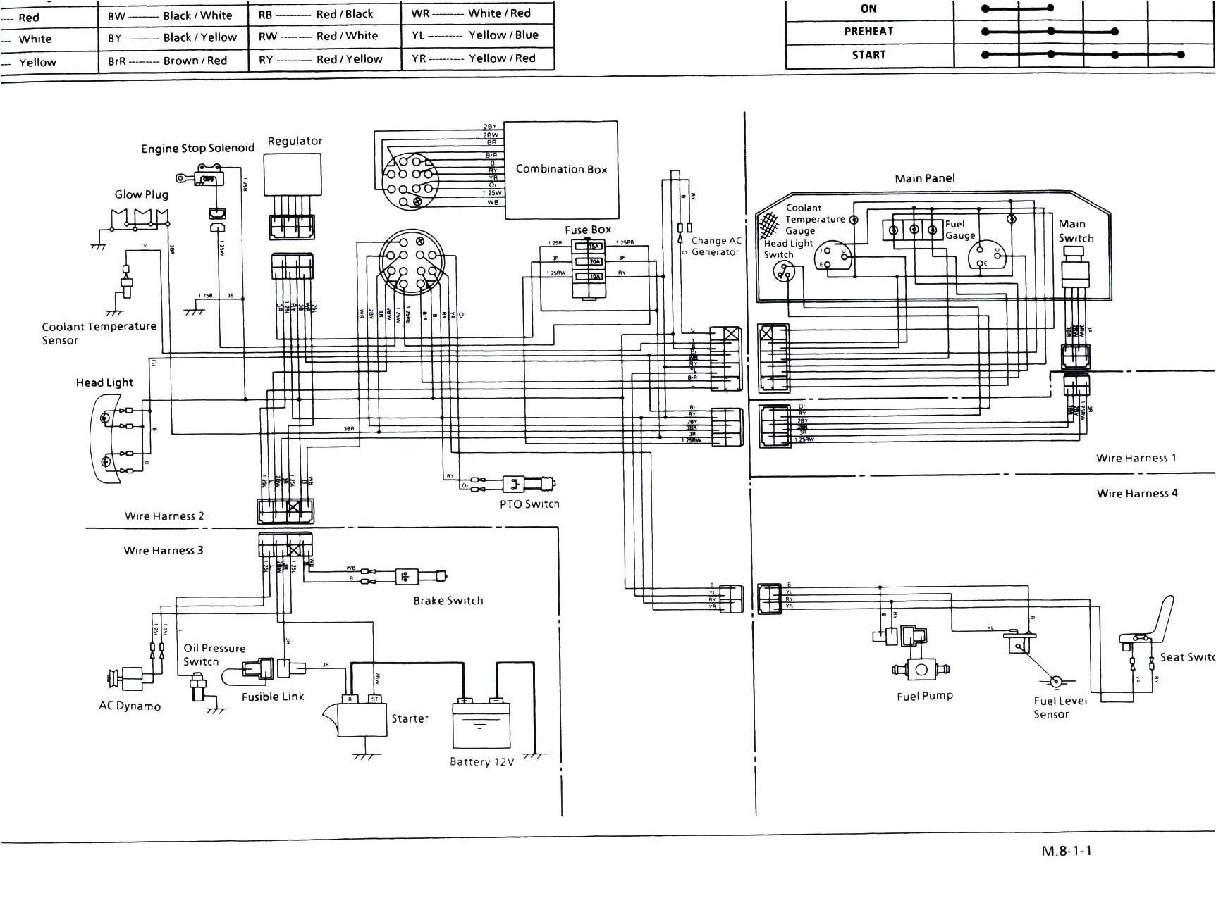 kubota tractor wiring diagrams manual e books kubota wiring diagram pdf jpg