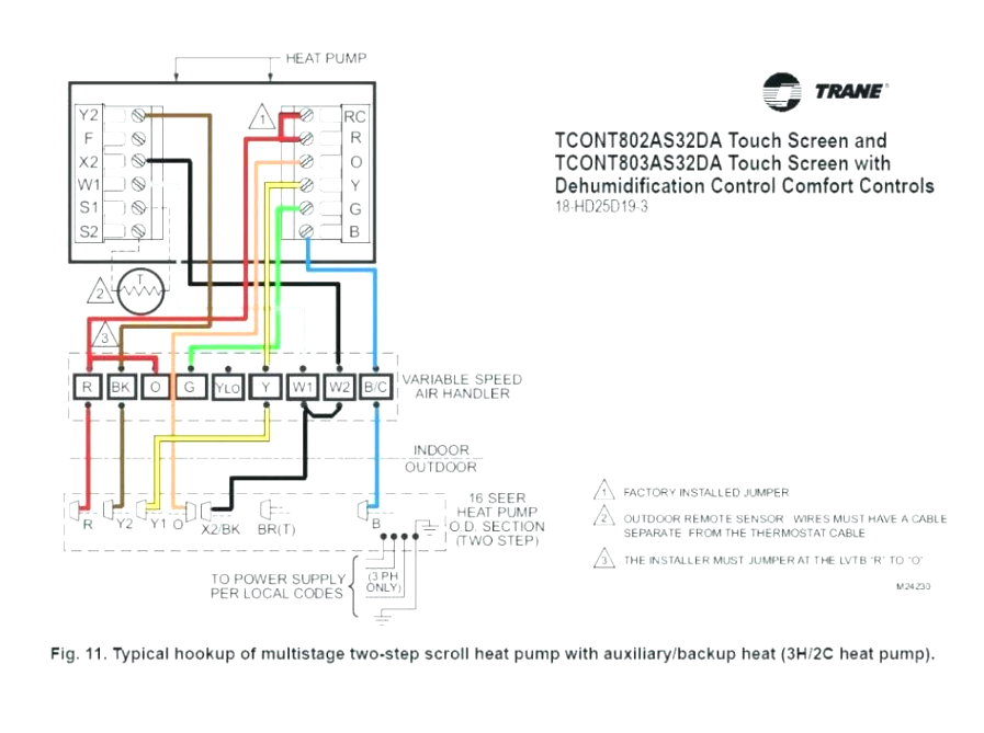 7 wire thermostat wiring diagram for trane wiring diagram center heat pump thermostat wiring diagram dans