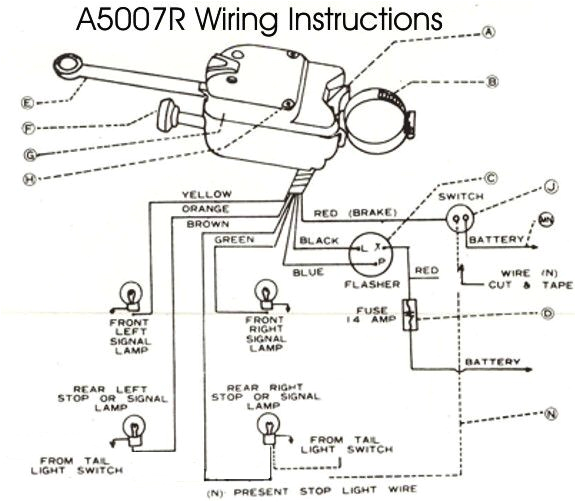 technical wiring issues brake and turn signal the h a m b united pacific turn signal wiring diagram