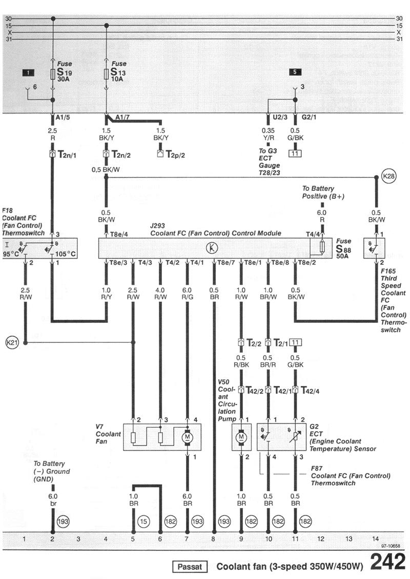 vw passat 1993 cooling fan control module input output listing mix wiring diagram for 1993 passat
