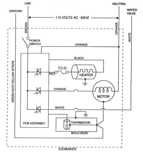 wiring diagram whirlpool ice maker data wiring diagram preview fridge diagram maker