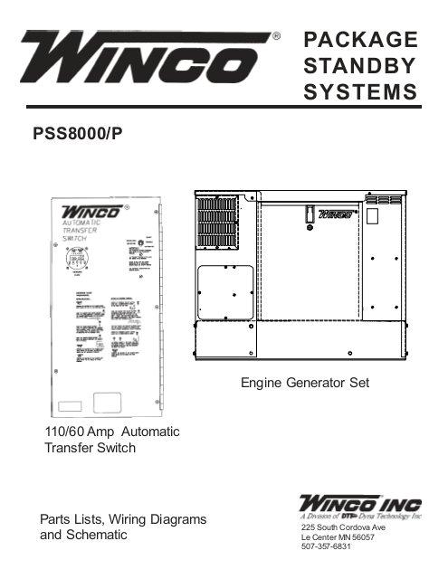 60701 095 parts list pss8000 p winco generators jpg