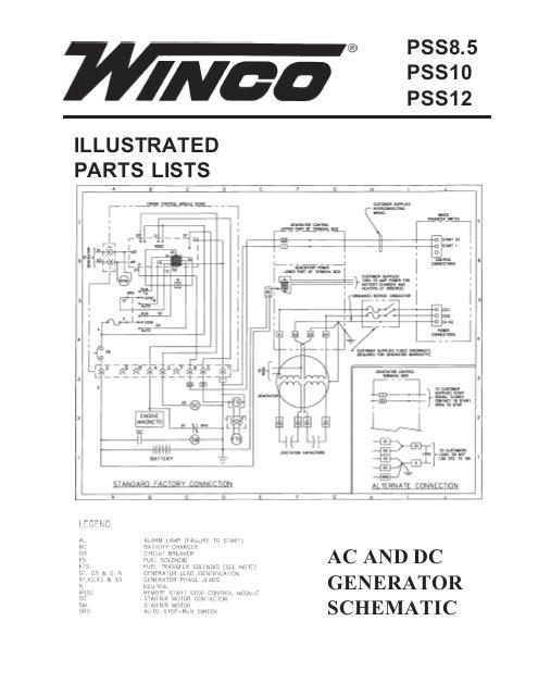 illustrated parts lists ac and dc generator winco generators jpg