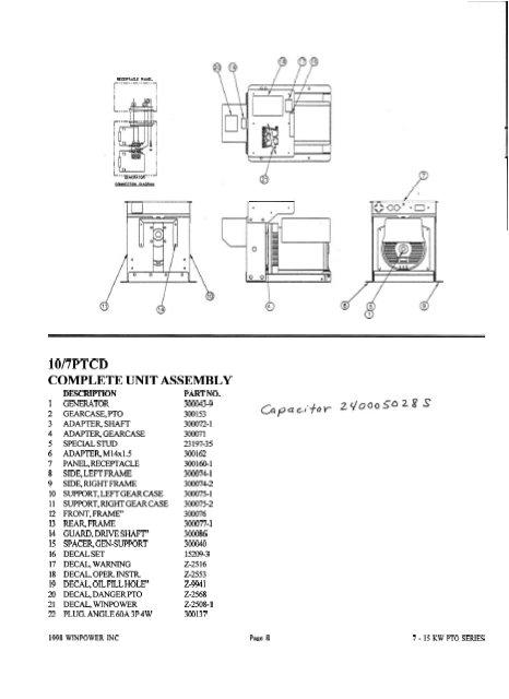 10 7 ptcd parts list and wiring diagram winco generators power amplifier circuit diagram winco generator