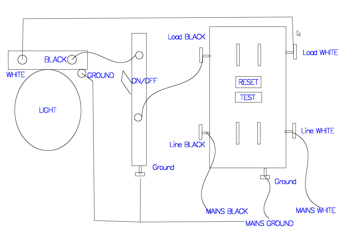 Wiring Diagram for Gfci and Light Switch Gfci Receptacle with A Light Fixture with An On Off Switch In