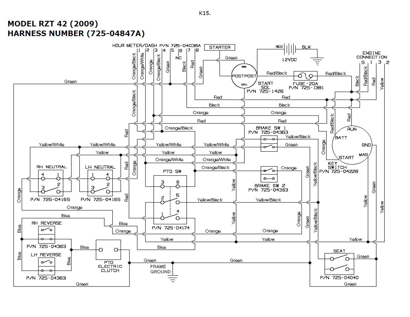 toro timecutter 42 wiring diagram  netlify