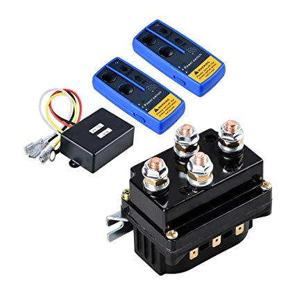 amazon com astra depot 12v 500a winch solenoid contactor relay twin wireless remote controls for atv utv 4wd 4x4 8000lbs 12000lbs winches automotive