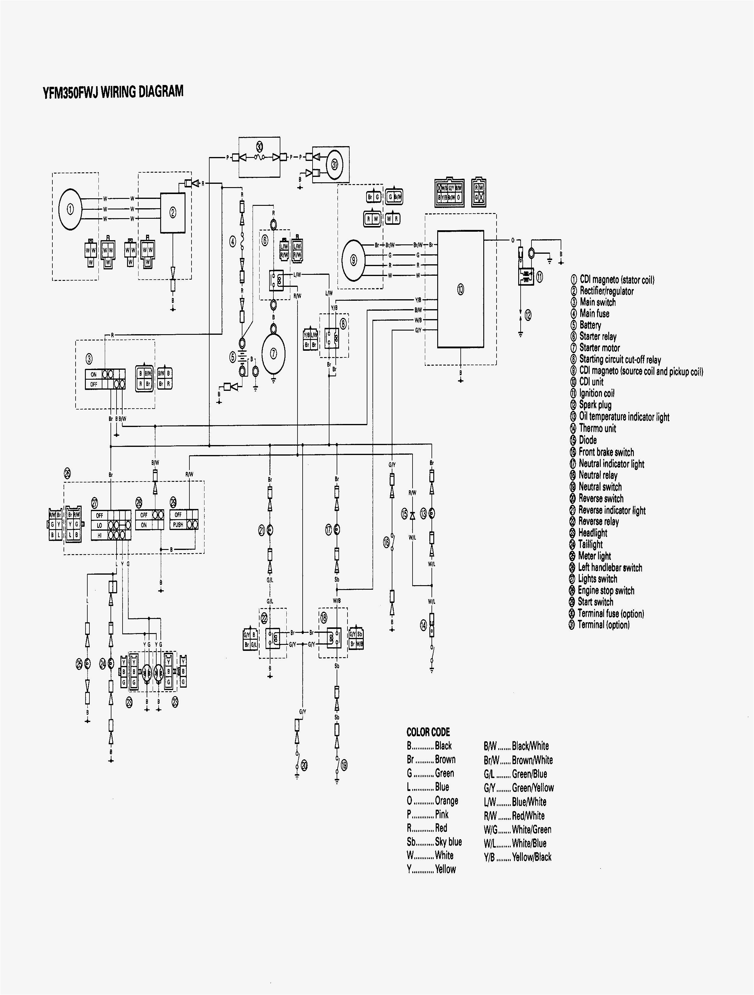 Yamaha Grizzly 350 Wiring Diagram Yamaha 2009 350 Grizzly Wiring Diagram Premium Wiring Diagram Blog