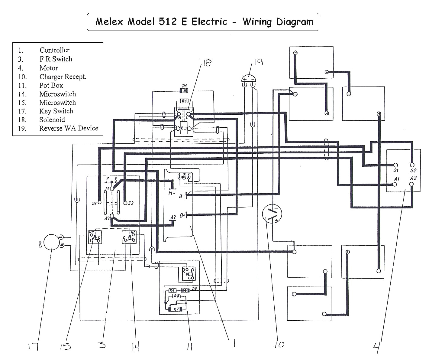 Zone Golf Cart Wiring Diagram Melex Electric Golf Cart 6 Volt Wiring Diagram Wiring Diagram